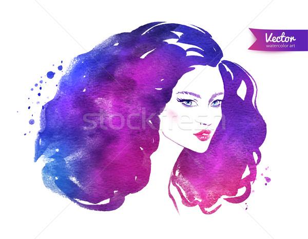 Female portrait. Stock photo © Sonya_illustrations