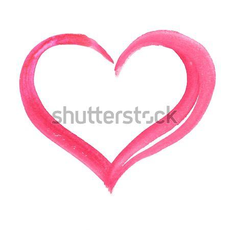 Watercolor heart.  Stock photo © Sonya_illustrations