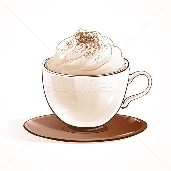 Cappuccino café main art restaurant Photo stock © Sonya_illustrations