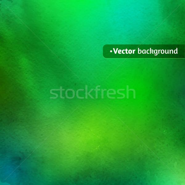 Foto stock: Verde · acuarela · textura · vector · resumen · pintura