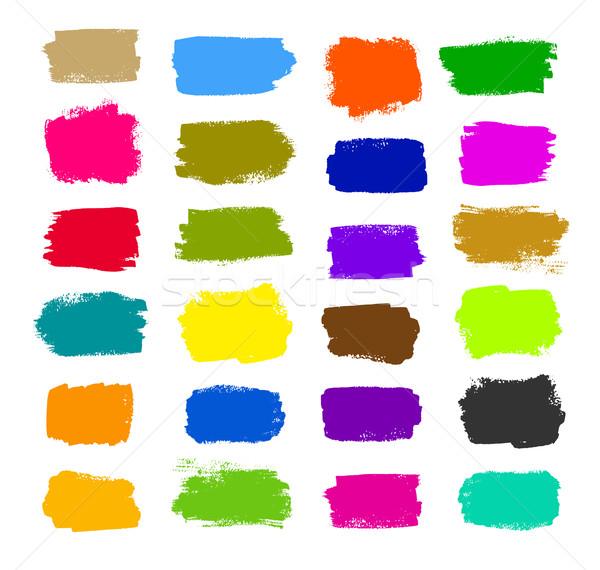 Színes ecsetvonások vektor grunge gyűjtemény textúra Stock fotó © Sonya_illustrations