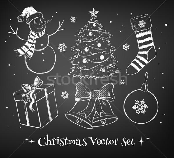Christmas ingesteld vector collectie ontwerp communie Stockfoto © Sonya_illustrations