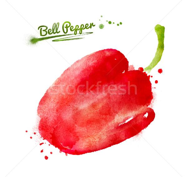 Watercolor bell pepper  Stock photo © Sonya_illustrations