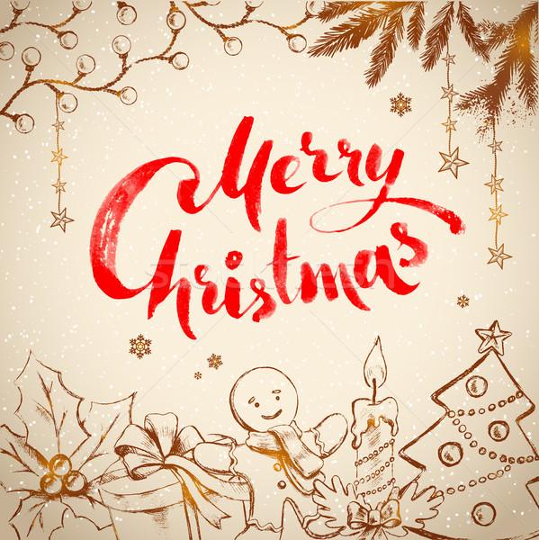 Stockfoto: Vintage · christmas · traditioneel · feestelijk · objecten · achtergrond