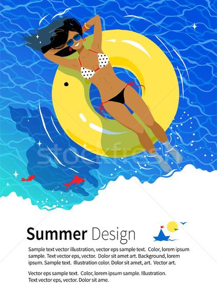 Summer vacation flyer design Stock photo © Sonya_illustrations