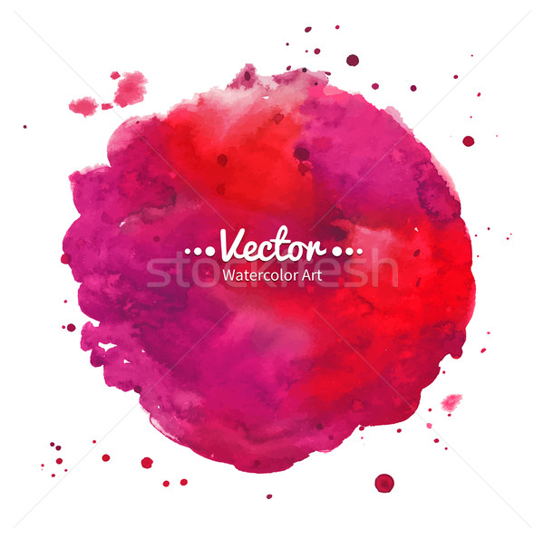 Akwarela plama czerwony streszczenie farby Zdjęcia stock © Sonya_illustrations