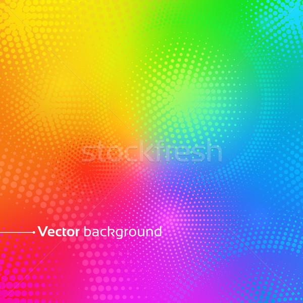 Gökkuşağı vektör müzik arka plan yeşil mavi Stok fotoğraf © Sonya_illustrations