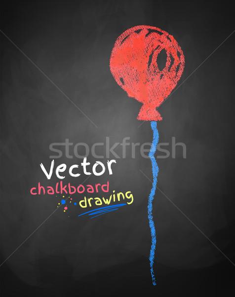 Krijttekening ballon kleur ontwerp achtergrond leuk Stockfoto © Sonya_illustrations