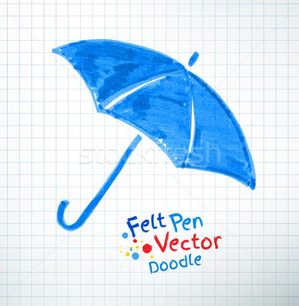 Vector illustration of umbrella. Stock photo © Sonya_illustrations