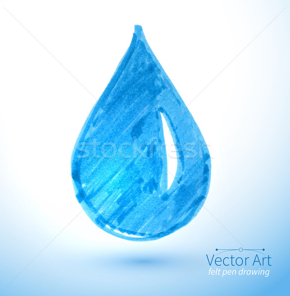 Su damlası vektör kalem çocuk çizim soyut Stok fotoğraf © Sonya_illustrations