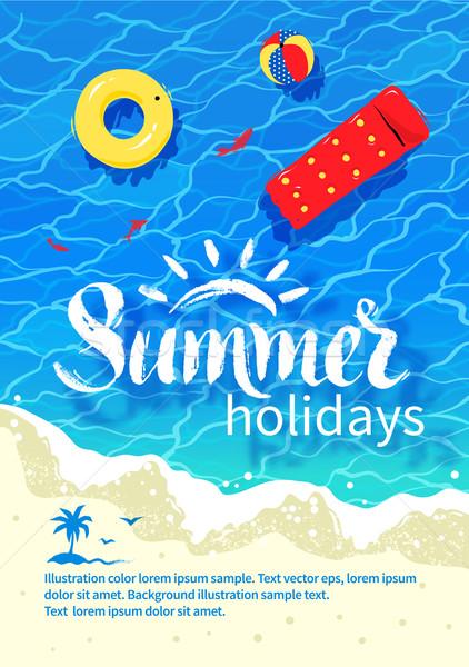 Summertime vacation flyer design Stock photo © Sonya_illustrations