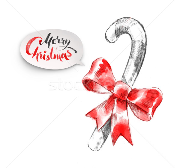 Stock photo: Hand drawn illustration of Christmas candy