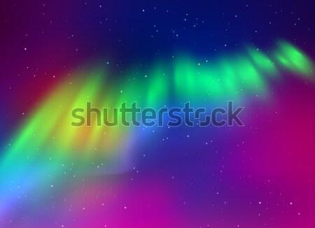 北方 ライト 緑 紫色 色 テクスチャ ストックフォト © Sonya_illustrations