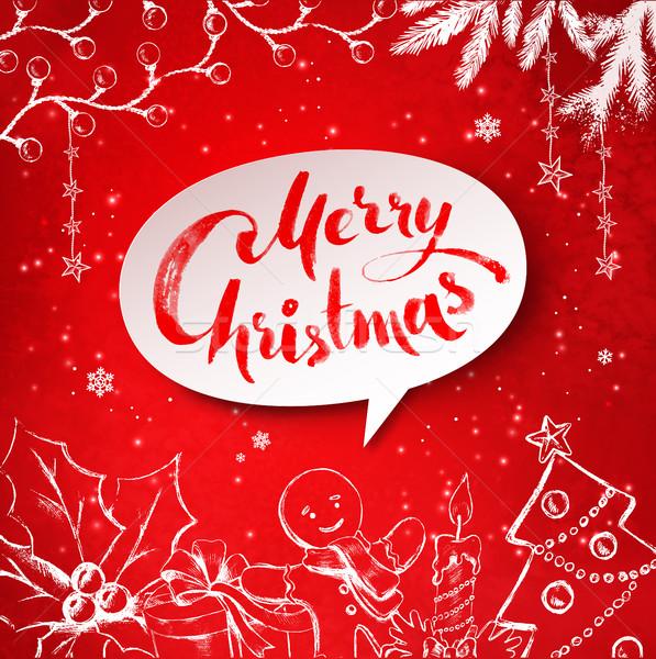 Christmas vector illustration of festive objects Stock photo © Sonya_illustrations