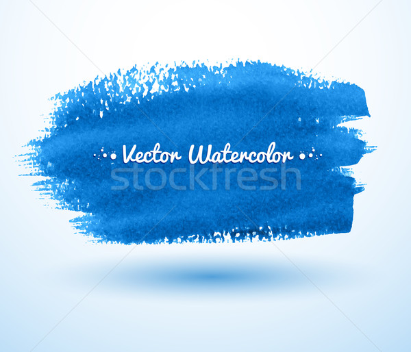 Blue watercolor brush stroke. Stock photo © Sonya_illustrations
