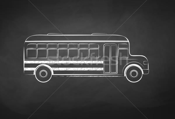 Iskolabusz tábla rajz textúra gyerekek művészet Stock fotó © Sonya_illustrations