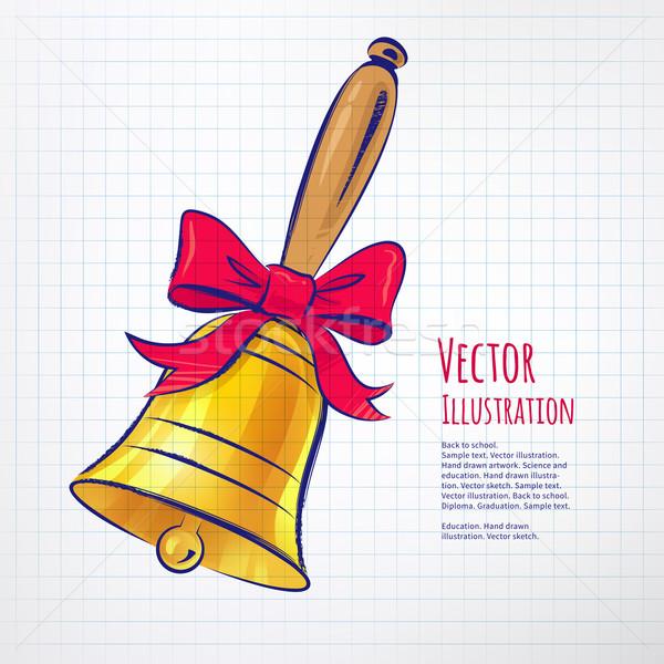 School bell. Stock photo © Sonya_illustrations