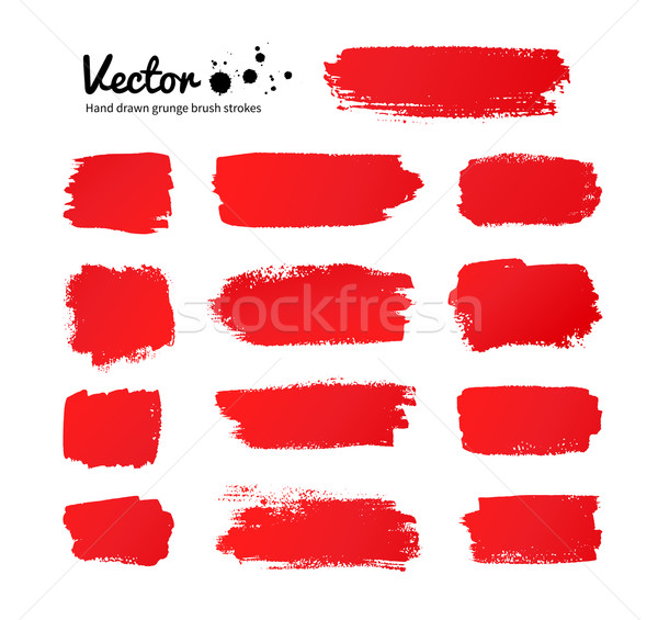 Red paint brush strokes. Stock photo © Sonya_illustrations