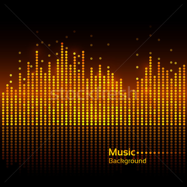 Ecualizador vector resumen música luz tecnología Foto stock © Sonya_illustrations