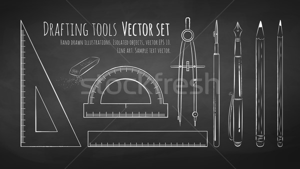 Drafting tools. Stock photo © Sonya_illustrations