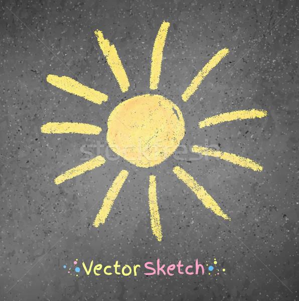 Chalk drawing of sun  Stock photo © Sonya_illustrations