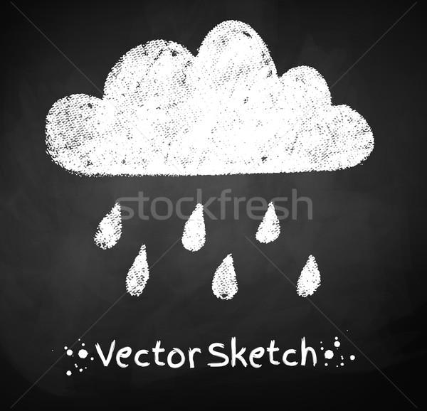 Esős felhő rajz absztrakt természet terv Stock fotó © Sonya_illustrations