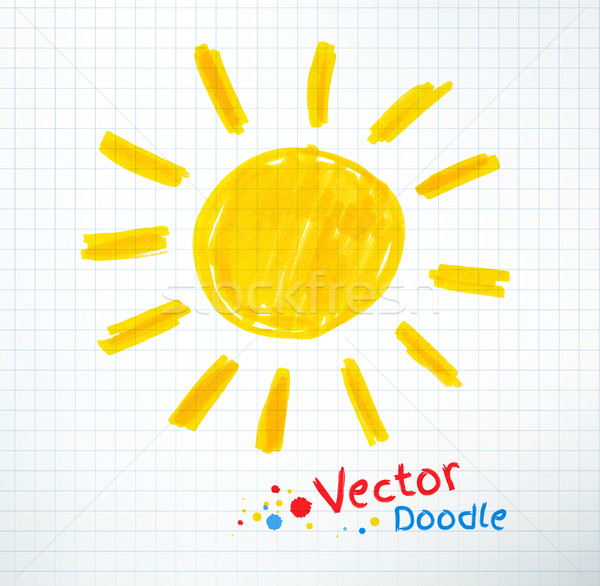 Childlike drawing of sun. Stock photo © Sonya_illustrations