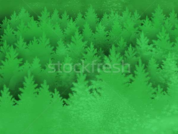 Landscape background with spruce forest Stock photo © Sonya_illustrations