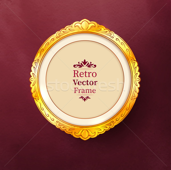 Barroco dorado marco vintage textura diseno Foto stock © Sonya_illustrations