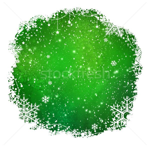 Green Christmas frame Stock photo © Sonya_illustrations