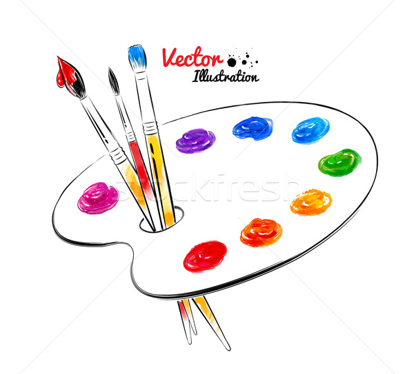 Paint palette.  Stock photo © Sonya_illustrations