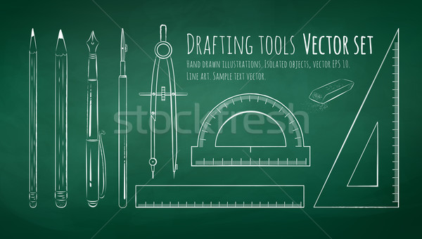 Drafting tools.  Stock photo © Sonya_illustrations