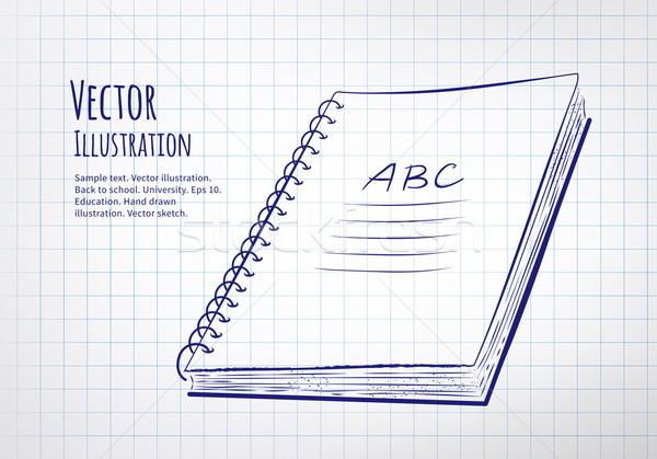 School notebook Stock photo © Sonya_illustrations