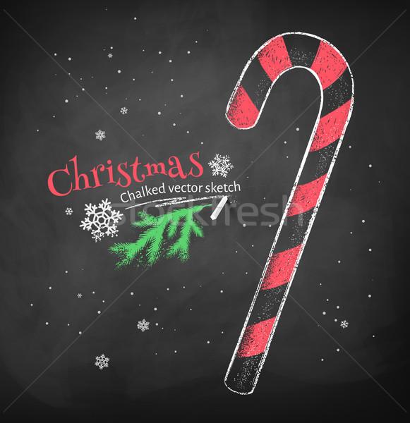 Christmas candy cane. Stock photo © Sonya_illustrations