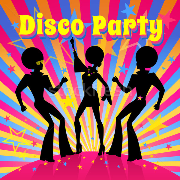 Disco party. Vector illustration. Stock photo © Sonya_illustrations