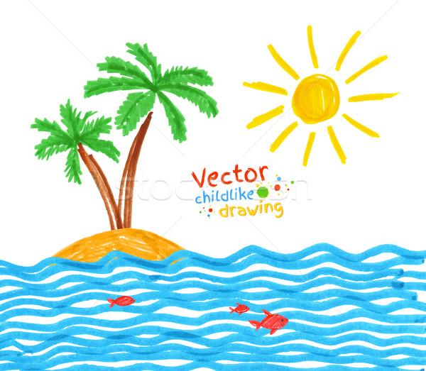 Seaside.  Stock photo © Sonya_illustrations