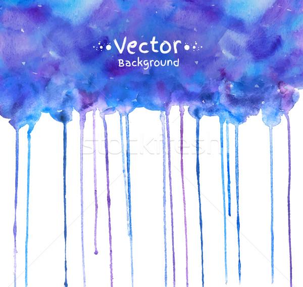 Vízfesték textúra kéz festett papír háttér Stock fotó © Sonya_illustrations