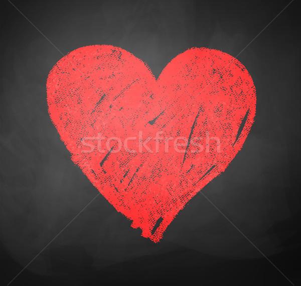 Dessin coeur enfants couleur école tableau noir Photo stock © Sonya_illustrations