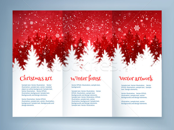 Red and white Christmas leaflet design Stock photo © Sonya_illustrations