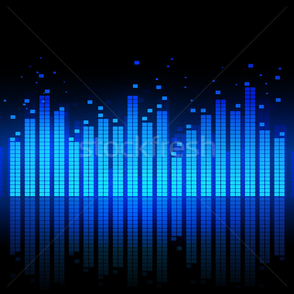 Hangszínszabályozó kék zene fény technológia fekete Stock fotó © Sonya_illustrations