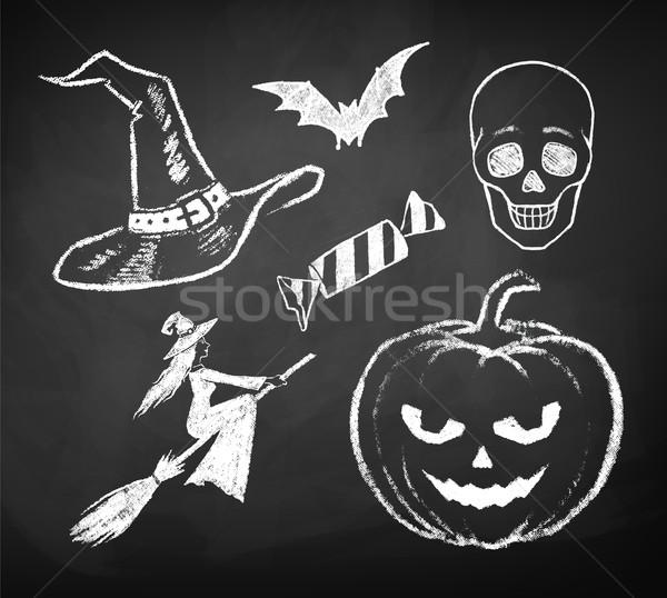 Halloween ensemble design texture résumé Photo stock © Sonya_illustrations