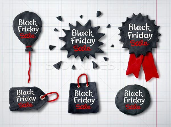 Black friday bannerek vektor szett kéz kockás Stock fotó © Sonya_illustrations