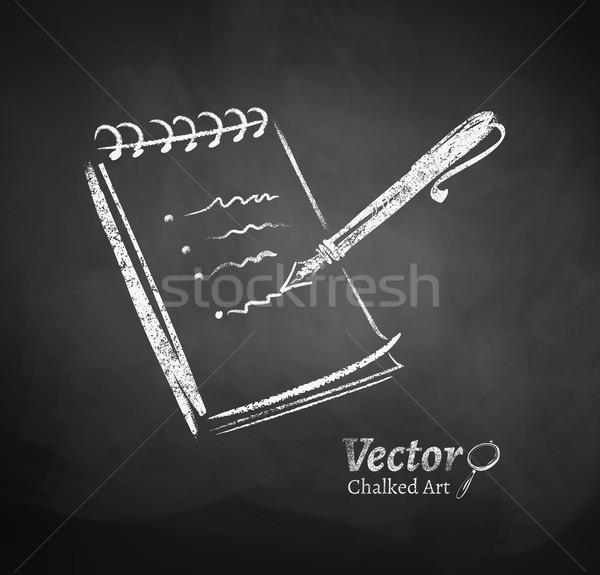 Notepad and pen. Stock photo © Sonya_illustrations