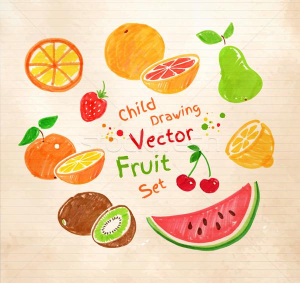 Felt pen fruit. Stock photo © Sonya_illustrations