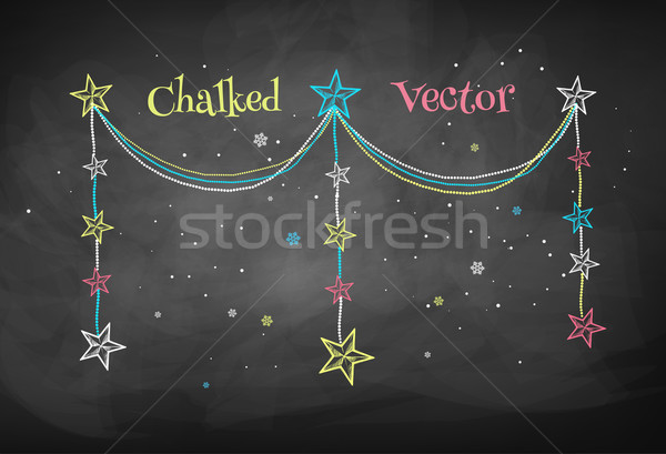 Christmas garland with stars. Stock photo © Sonya_illustrations