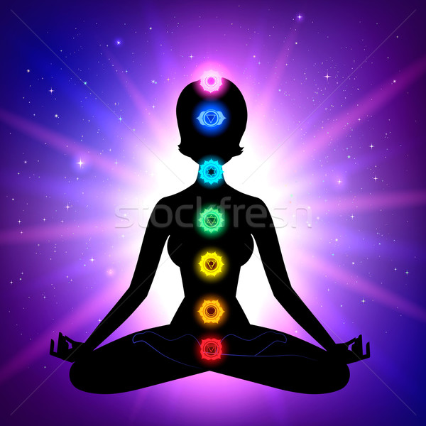 Stock photo: Chakras. Meditation.