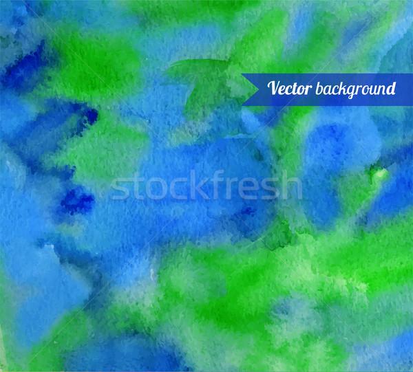 Kéz festett vízfesték papír textúra festék Stock fotó © Sonya_illustrations