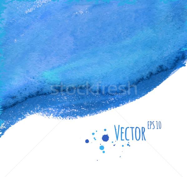 Vízfesték vektor absztrakt papír festék szépség Stock fotó © Sonya_illustrations