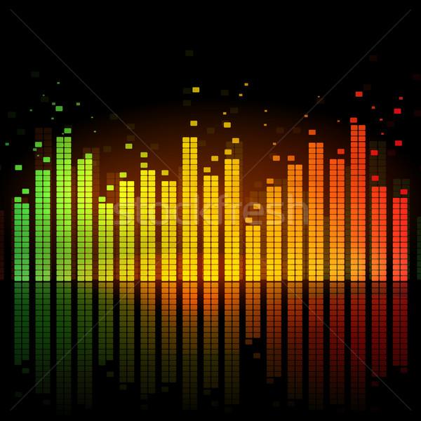 Hangszínszabályozó izzó zene terv technológia háttér Stock fotó © Sonya_illustrations