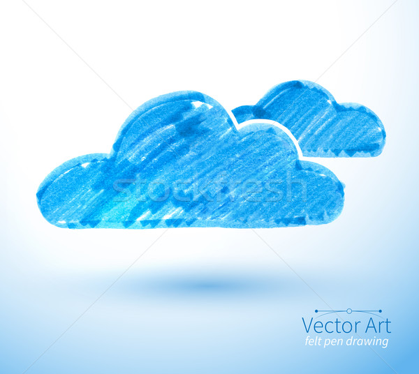 Vector illustration of clouds. Stock photo © Sonya_illustrations